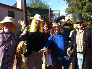 locals getting their scarecrow on