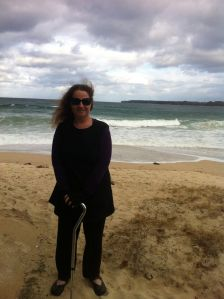 On the beach today, unashamedly ME